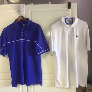 2 Golf Polos Under Armour & Oakley-SIZE LARGE